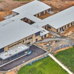Aerial view of the main buildings Macksville District Hospital