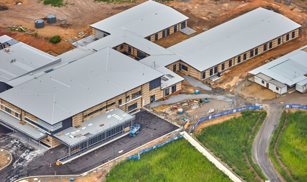 Close up of the Macksville Hospital Development outlining roads around the hospital and buildings