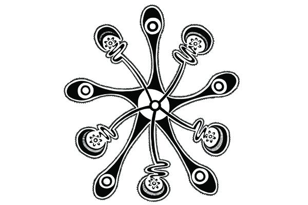 Aboriginal artwork by Brentyn Lugnan