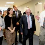 Warren Grimshaw, staff and Gladys Berejiklian at the opening of the CHHC Expansion