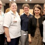 Staff with Gladys Berejiklian at the opening of the CHHC expansion