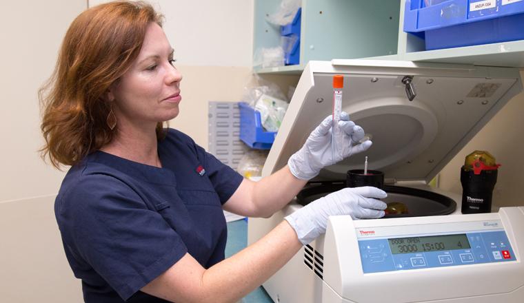 Nurse with centrifuge