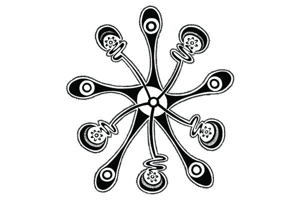 Five Mobs Artwork produced by Gumbaynggirr Artist, Brentyn Lugnan