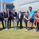 Group of staff, senior executive sod-turning CHHC Expansion