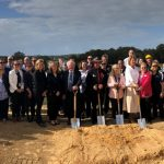 Group of dignitaries turning the ground for the commencement pf tje Macksville District Hospital build
