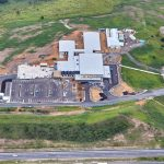 Aerial view of the Macksville District Hospital Car Park