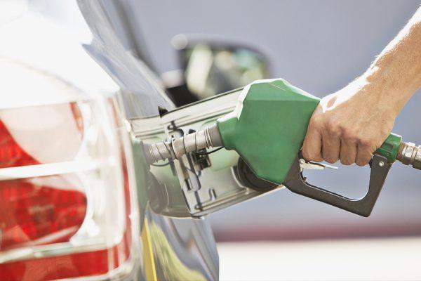 petrol pump in car tank